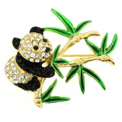 Panda . Crystal Pin Brooch