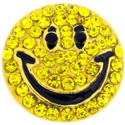 Happy Face Smiley Crystal Lapel Pin