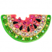 Pink Watermelon . Crystal Pin Brooch