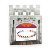 Weave Got Maille Rainbow Double Orbital Barrel Chain Maille Bracelet Kit
