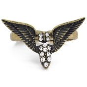 Vintage Style Brass Military Two Finger Stretch Ring