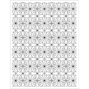 Basic Grey Tea Garden Cling Stamps By Hero Arts-Tile Pattern Background
