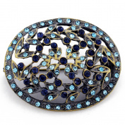Vintage Style Blue Flower Brooch Pin