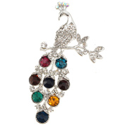 Multicolor Crystal Peacock Pin Brooch And Pendant