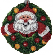 Santa Wreath Latch Hook Kit by Caron International