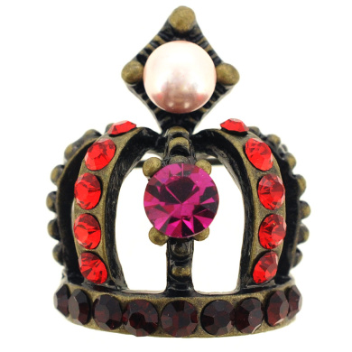 Pearl Crown Pin Brooch