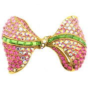 Pink Bow Pin Brooch