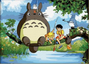 Greek Art Paintwork Paint Colour By Numbers Kit,My Neighbour Totoro,30cm -by-41cm