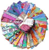 Kaffe Fassett COLLECTIVE VIVID Fat Quarter Bundle 30 Precut Cotton Fabric Quilting FQs Assortment Westminster Fibres FB1FQGP.VIVID