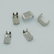 Bluemoona 200 Pcs - #5 Zipper Stoper Top Stops Bottom Rescue Repair Set Rectangle