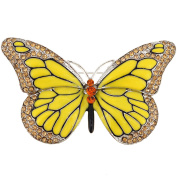 Yellow Monarch Butterfly Crystal Pin Brooch