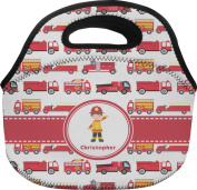 Firetrucks Personalised Lunch Bag - Large