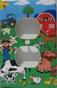 Farm Outlet Switch Plate Cover / Farm Animal Outlet Cover / Firetruck Wall Decor