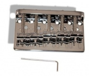 Bass Guitar Bridge 68 Millimetre 5 String Thru Body or Bridge Chrome