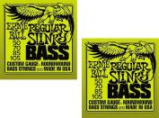 Ernie Ball 2832 Regular Slinky Bass Strings ,2 Pack