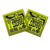 Ernie Ball Electric Guitar Strings - Regular Slinky Nickel Wound 10-46 - 2 Pack
