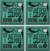 Ernie Ball 2626 Not Even Slinky Electric Strings,4 Pack