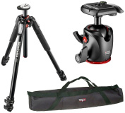Manfrotto MT055XPRO3 055 Aluminium 3-Section Tripod Kit with MHXPRO-BHQ2 XPRO Magnesium Ball Head and a VidPro 90cm Tripod Case