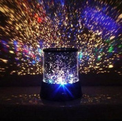Uping LED Night Light Projector Lamp Star lights With Colourful Sky Star Scene, Bed Side Lamp With USB Cable