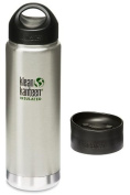 Klean Kanteen 590ml Wide Mouth Insulated Bottle with 2 Caps