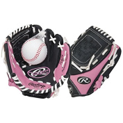 NEW 2015 Rawlings Girls Pink T-Ball Glove (Ages 6 & Below) Available in Right or Left