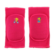 BXT Kids Children Boys Girls Stretchy Cotton Knee Pads Sports Padded Knee Sleeves Dancing Knee Protective Brace Support Strap Wrap Band for Basketball, Volleyball, Football, Skating Sports