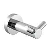 Angle Simple G2100 Stainless Steel Double Prong Robe Hook, Chrome