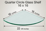 Quarter Circle Glass Shelf 16 x 16