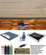 Queen semi wave waterbed mattress with zipper cover, Heater & Liner
