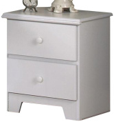 Lang Furniture Shaker 2-Drawer Night Stand with Roller Glides, 16 by 50cm by 60cm , White