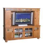 Sunny Designs 2751RO-TC Sedona 180cm TV Console, Rustic Oak Finish