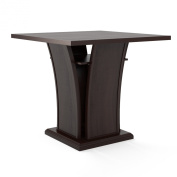 Sonax CorLiving Bistro 90cm Counter Height Cappuccino Dining Table with Curved Base