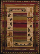 United Weavers of America Affinity Collection Canoe Sunset Rug, 0.3m by 0.9m, Brown