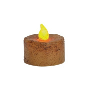 CWI Gifts 8-Piece Tealight Candle Set with Battery, 3.2cm , Burnt Ivory