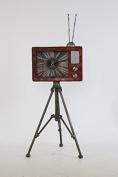 TWG Antique TV Clock Old Fashioned TV Clock Floor Centrepiece