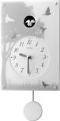 CITIZEN of simple design cuckoo clock cuckoo Grace 410 plastic frame / white 4MJ410-003