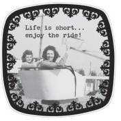 Life Is Short Mini Plate