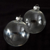 """Creative Hobbies® 83 mm (3-1/4"""") Round Clear Plastic Ball Ornaments -Great for Crafting- Pack of 12"""