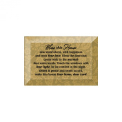 Bless This House Bevelled Glass Plaque with Easel