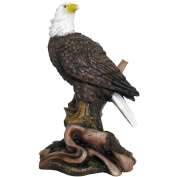American Bald Eagle Statue in Wild Bird Sculptures & Figurines As Patriotic Decorations or Office and Rustic Lodge Home Decor and Decorative Gifts for Eagles Fans