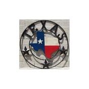 LL Home Metal Texas Map Circle