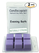 Candlecopia Evening Bath 190ml Scented Wax Melts - Soothing bedtime blend of mandarin, lavender, chamomile, neroli and lily of the valley - 2-Pack of naturally strong scented soy wax cubes throw 50+ hours of fragrance when melted in Scentsy®, Ya ..