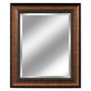 Head West Distressed Embossed Mirror, 80cm by 90cm , Copper