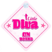 Little Diva On Board Car Sign New Baby / Child Gift / Present / Baby Shower Surprise