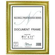 22cm x 28cm Prestigious Traditional Document Frame Plastic Face, Gold