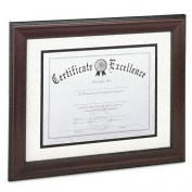 DAX : Rosewood Document Frame, Wall-Mount, Wood, 11 x 14 -:- Sold as 2 Packs of - 1 - / - Total of 2 Each