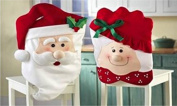 Mr & Mrs Santa Claus Christmas Kitchen Chair Covers - Dining Chair Slipcovers