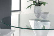 110cm Inch Round Glass Table Top, 1cm Thick, Pencil Polish Edge, Tempered Glass