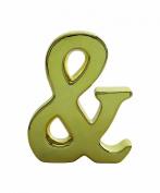 Creative Co-Op Ceramic Gold Ampersand