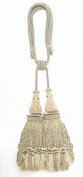 India House 79898 Jhalar Tieback with 25cm Double Tassel and 90cm Cord, Sage